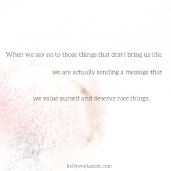 7 things I say no to these days
