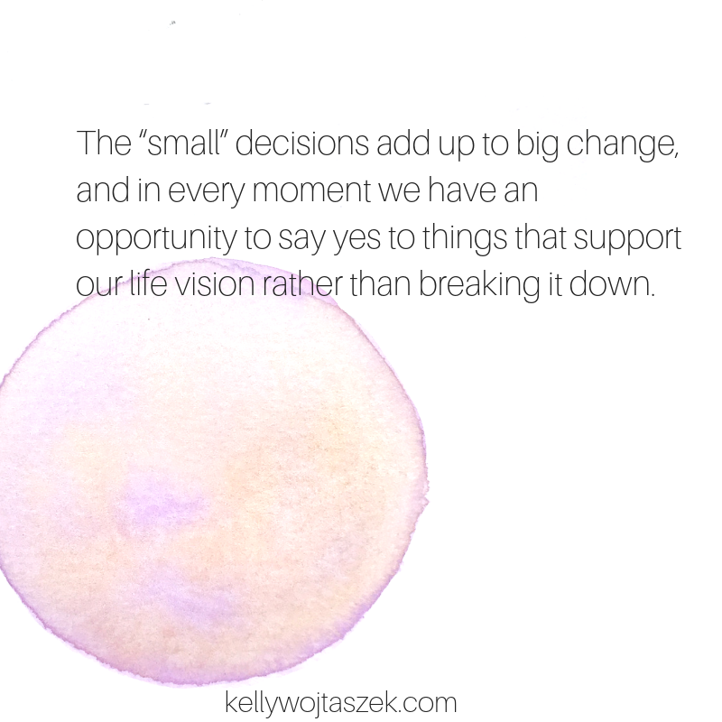 Our choices matter when crafting a life of intention
